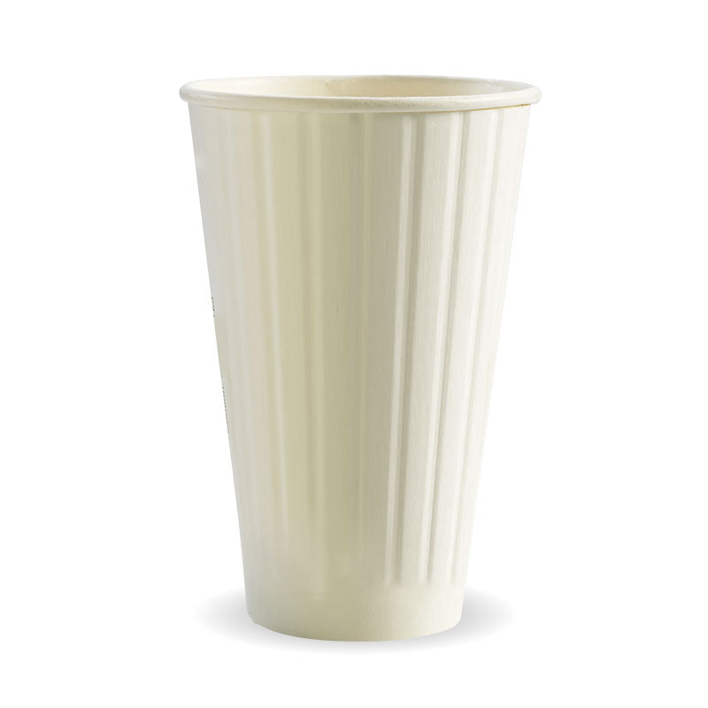 Bio Cup 16oz/473ml Double Wall White (Carton 600) (Sleeve 40)
