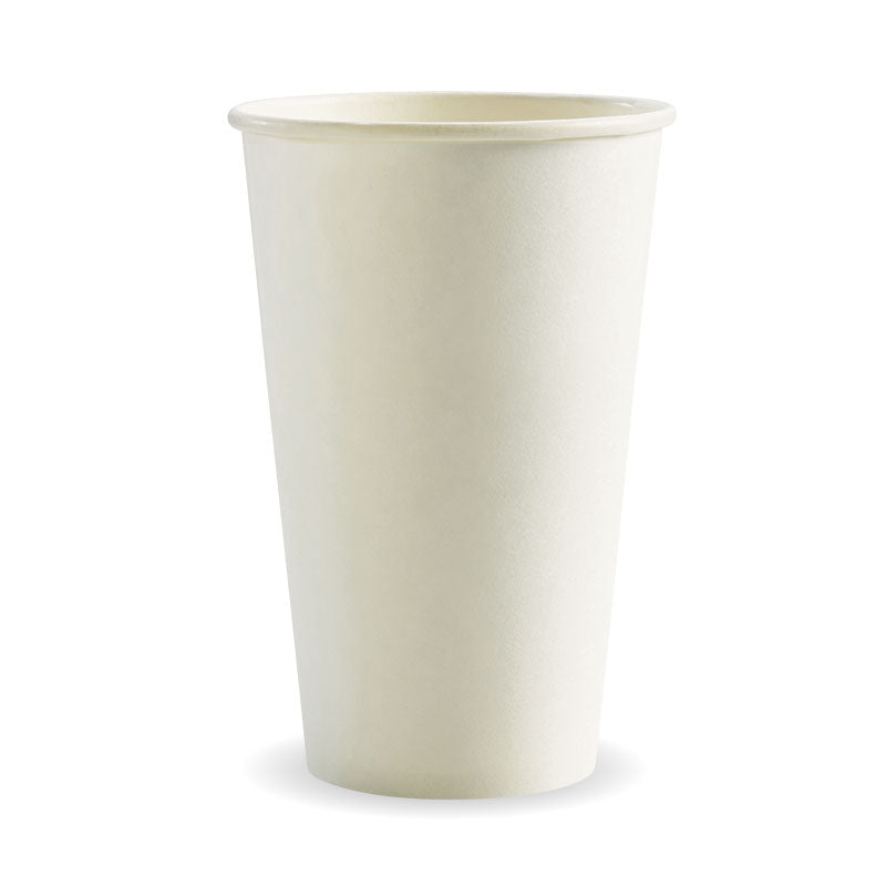 Bio Cup 16oz/473ml Single Wall White (Carton 1000) (Sleeve 50)