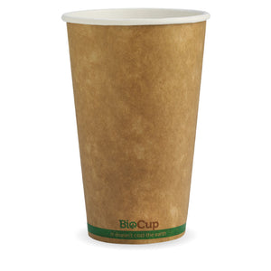 Bio Cup 16oz/473ml Single Wall Brown Kraft (Carton 1000) (Sleeve 50)