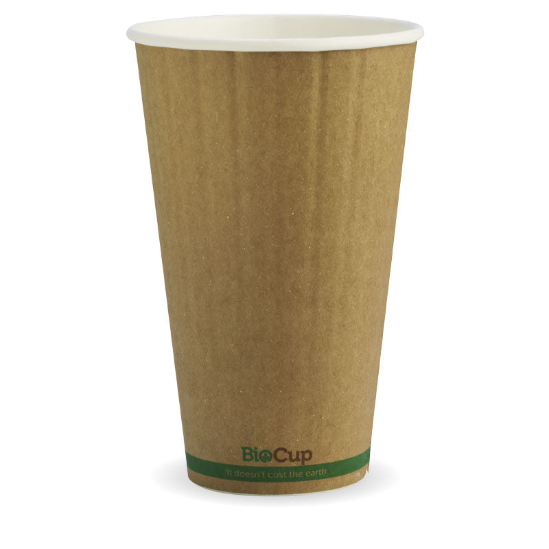 Bio Cup 16oz/473ml Double Wall Brown Kraft (Carton 600) (Sleeve 40)