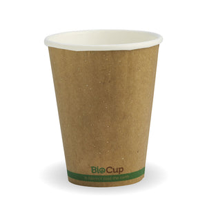 Bio Cup 8oz/236ml Double Wall Brown Kraft (Carton 1000) (Sleeve 50)