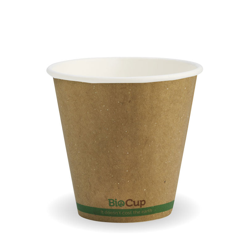 Bio Cup 8oz/236ml Double Wall 90mm Squat Kraft (Carton 1000) (Sleeve 50)