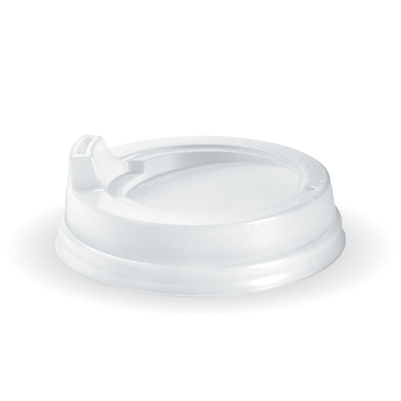 Bio Cup Lid 80mm 6/8/12oz Sipper White (Carton 1000) (Sleeve 50)
