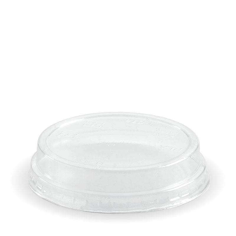 Bio Cup PLA Plastic Lid 76mm Raised/No Hole (Carton 2000) (Sleeve 50)