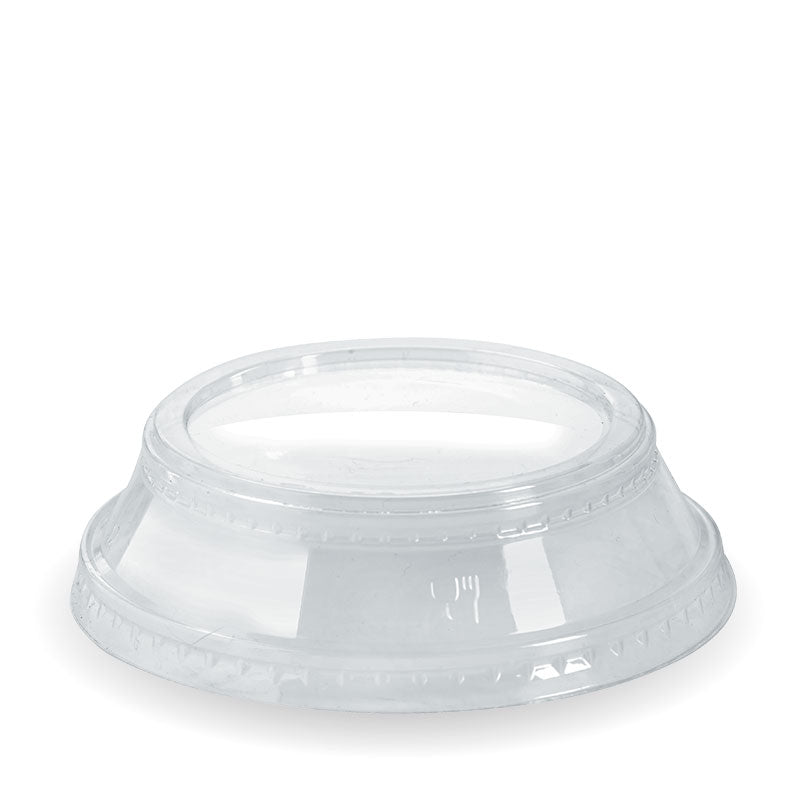 Bio Cup PLA Plastic Lid 96mm Raised 300-700ml (Carton 1000) (Sleeve 50)