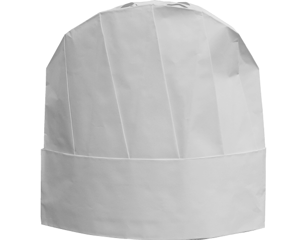 Hat Chef 9 White (Carton 100) (Sleeve 10)