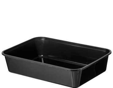 A500 Plastic Rectangle Black (500ml) Container (Carton 500) (Sleeve 50)