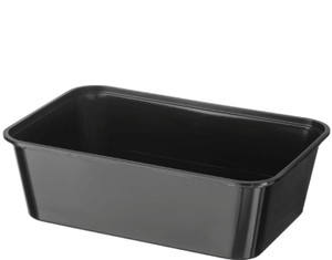 A750 Plastic Rectangle Black (750ml) Container (Carton 500) (Sleeve 50)