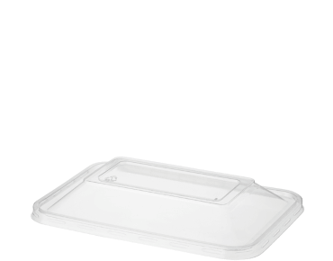 Lid Dome Rectangle Clear C/A (Carton 500) (Sleeve 50)