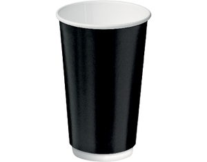 16oz Paper Double Wall Black Cup C/A (Carton 300) (Sleeve 20)