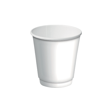 8oz Paper Double Wall White Cup C/A (Carton 500) (Sleeve 25)