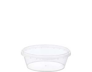 Locksafe Container Round 300ml (Large LID) (Carton 500) (Sleeve 50)