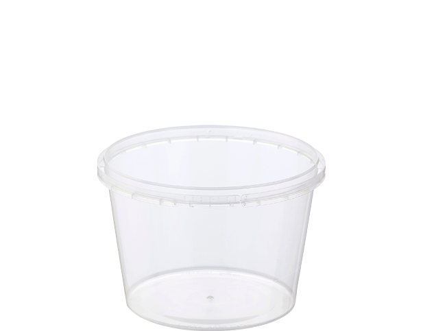 Locksafe Container Round 600ml (Large LID) (Sleeve 50)