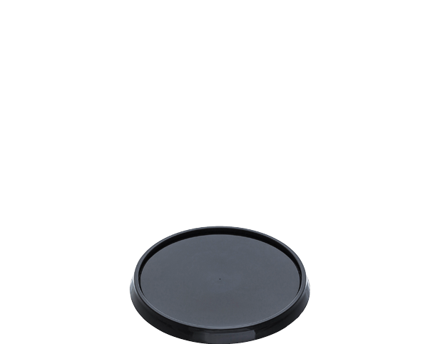 Locksafe Lid Black Round Small (87mm) (Carton 1000)