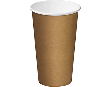 16oz Paper Single Wall Brown Cup C/A (Carton 500) (Sleeve 25)