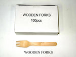 Fork Wooden (Carton 1000) (Box 100)