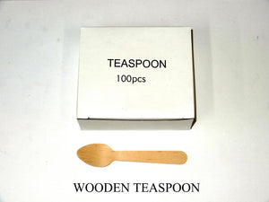 Teaspoon Wooden (Carton 1000) (Pack 100)