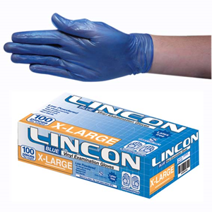 Gloves Vinyl Extra Large Blue (Carton 1000) (Pack 100)