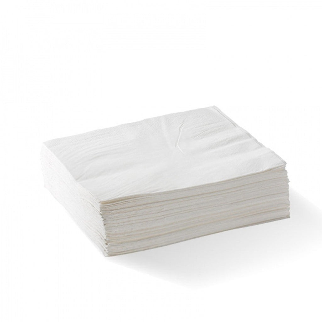 1 Ply Lunch ABC Napkin White (Carton 3000) (Pack 500)