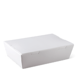 Detpak Lunch Box Medium White (180mm x 120mm x 50mm) (Carton 200) (Pack 50)