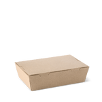 Detpak Lunch Box Medium Brown (180mm x 120mm x 50mm) (Carton 200)