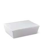 Detpak Lunch Box Large White (195mm x 140mm x 65mm) (Carton 200) (Pack 50)