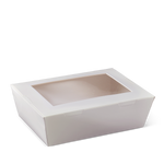 Detpak Lunch Box Large White Window (195mm x 140mm) (Carton 200) (Pack 50)