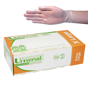 Gloves Vinyl Extra Large Clear (100X10) (Carton 1000)