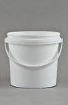 Bucket 1L White Pail Plastic Each