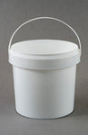 Bucket 2.1L White Pail Plastic Each