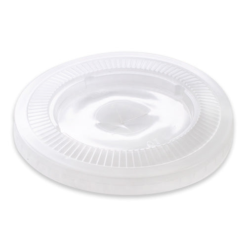 Lid Large Flat (P/Link) Clear 12/15/18/22oz (Carton 1000)