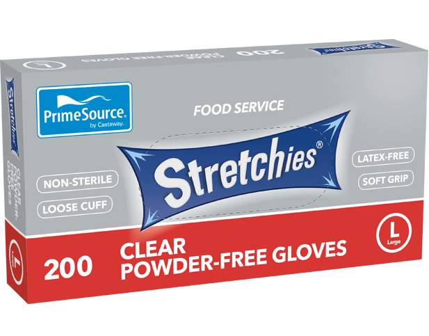 Gloves Disposable Stretchies Large (Carton 2000) (Pack 200)