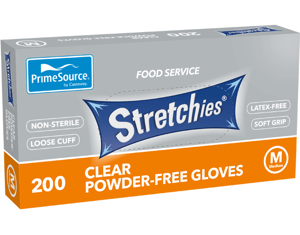 Gloves Disposable Stretchies Medium (Carton 2000) (Pack 200)