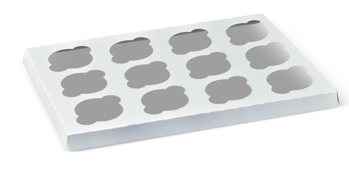 Patisserie Cup Cake 12 Insert (396mm x 291mm) (Carton 240) (Each)