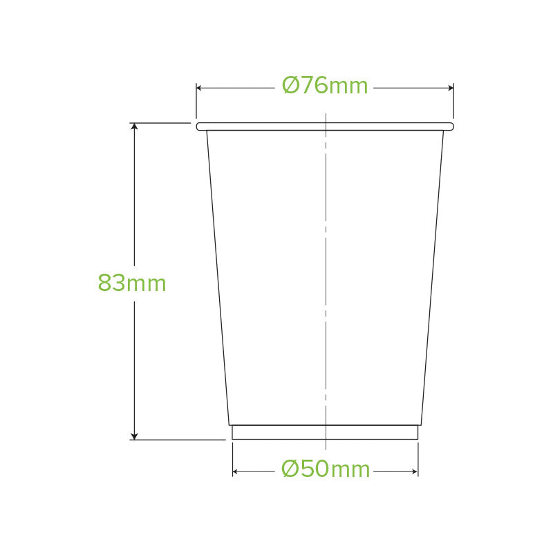 Bio Cup PLA Plastic 200ml Clear (Carton 2000) (Sleeve 100)