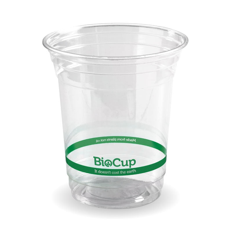Bio Cup PLA Plastic 420ml Clear (Carton 1000) (Sleeve 50)
