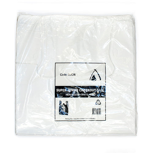 Carry Bag Super Jumbo White (900mm x 450mm) (Carton 500)