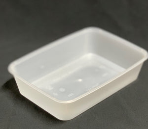 A500 Plastic Rectangle Freezer Grade Container (Carton 500) (Sleeve 50)