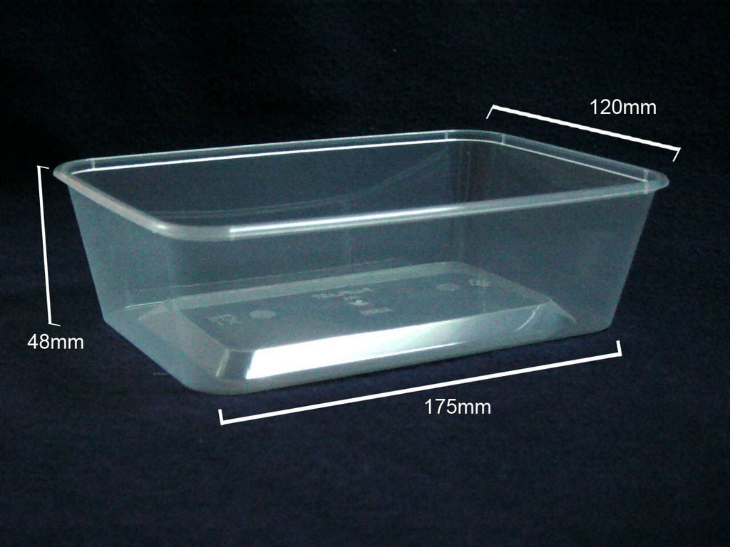 A650 Plastic Rectangle (650ml) Container (Carton 500) (Sleeve 50)