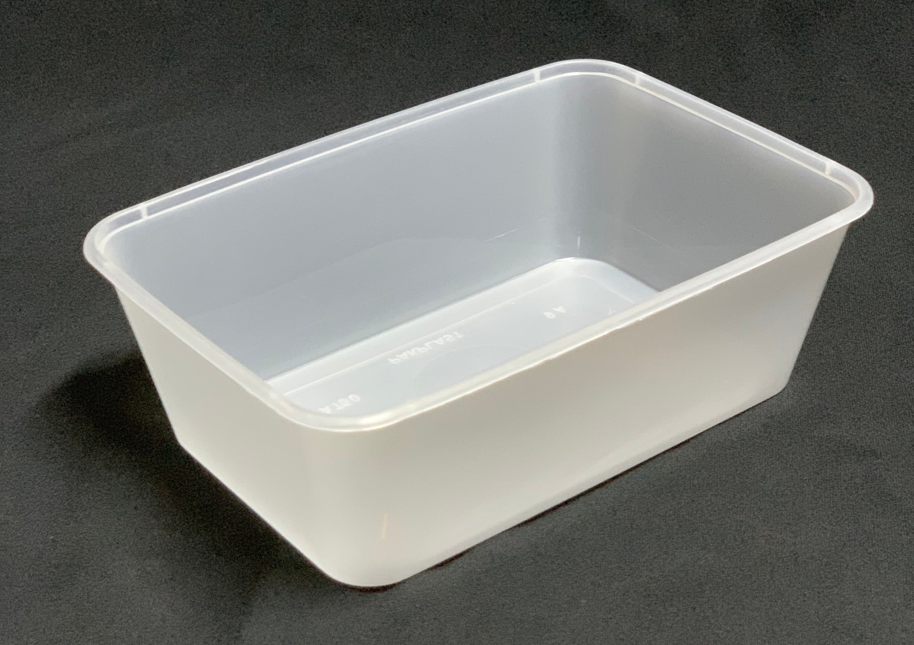 A700 Plastic Rectangle Freezer Grade Container (Carton 500) (Sleeve 50)