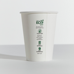 12oz Truly Eco Paper Single Wall White Cup Pinnacle (Carton 1000) (Sleeve 50)