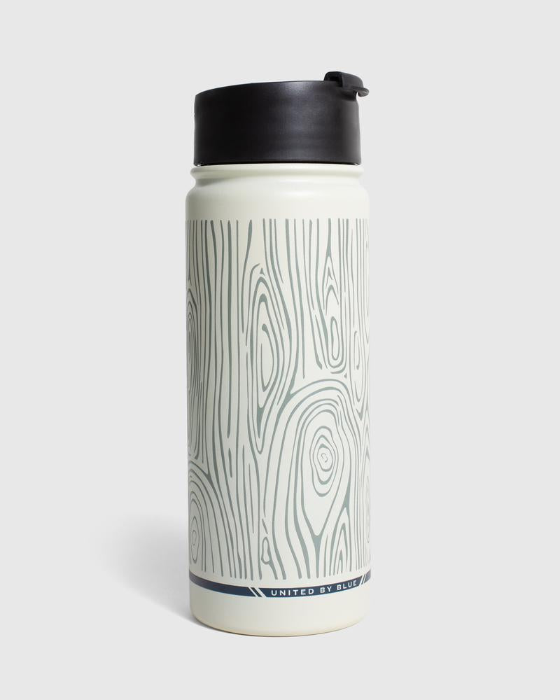 United By Blue Woodgrain 18 oz. Travel Bottle