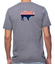 Load image into Gallery viewer, Unisex Circle Bison Frontier T-Shirt - Slim Fit