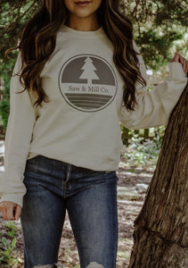 Unisex Circle Logo Crew Sweatshirt - Regular Fit