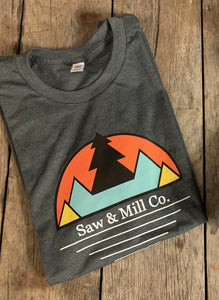 Mountain Scape T-Shirt - Grey