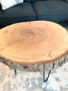 Pair of 26 inch Bark Rounds with Hair Pin Legs