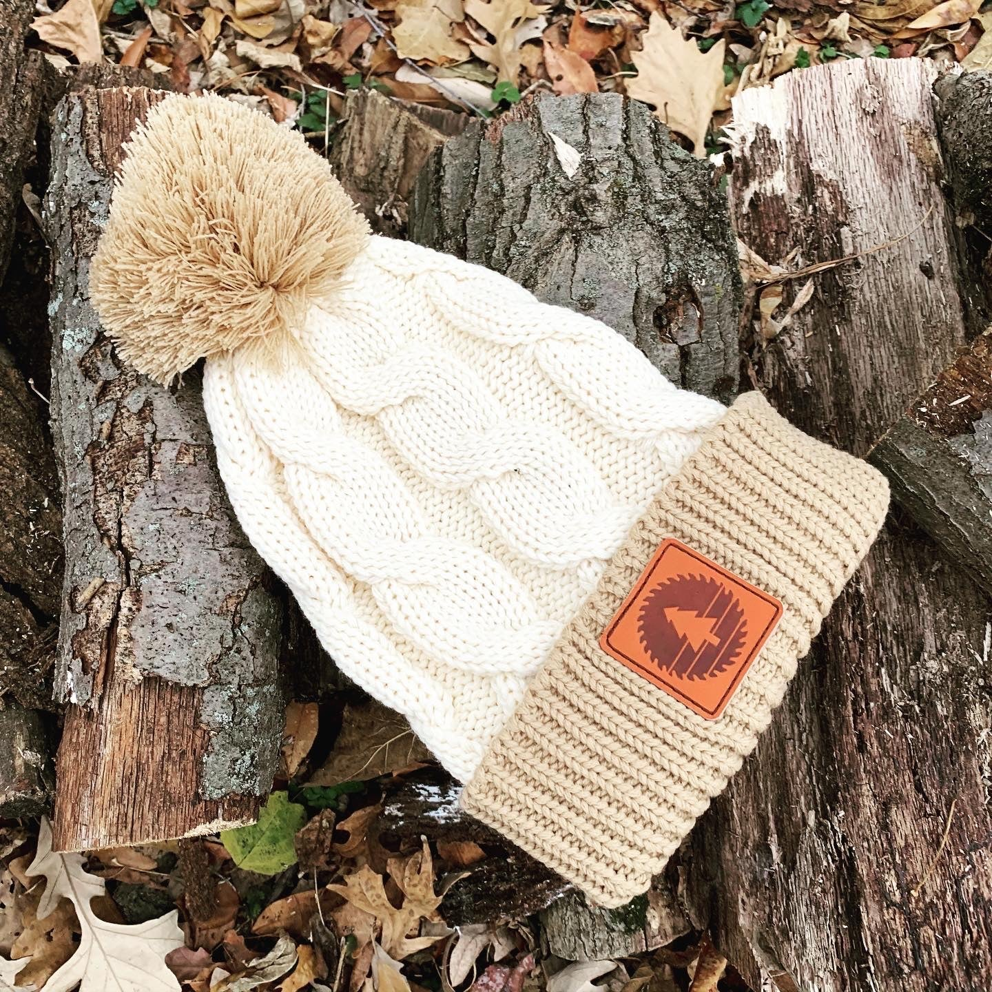 Saw & Mill Company Backcountry Pom Beanie - Cream