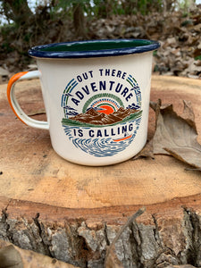 United By Blue (LARGE) Adventure Is Calling Enamel 22 Oz. Mug