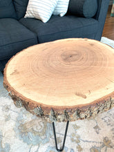 Load image into Gallery viewer, Pair of 26 inch Bark Rounds with Hair Pin Legs