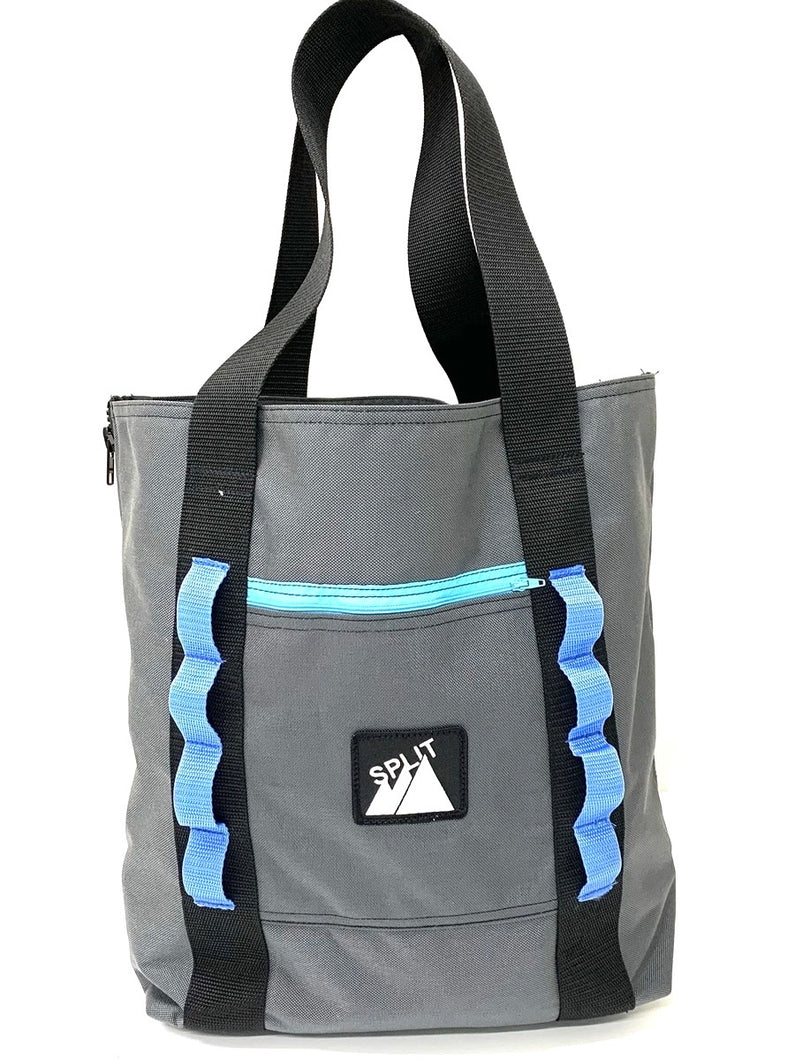 Split Tote Bag - Charcoal - Ships in 2-3 Weeks